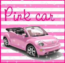 coccinelle cabriolet rose